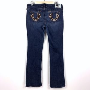 True Religion Mid Rise Bootcut Jeans Stretch Dark